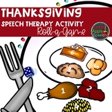 Thanksgiving Speech Therapy Activity