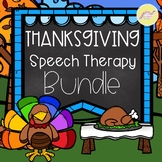Thanksgiving Speech Therapy Bundle