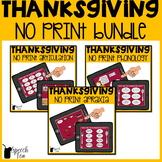 Thanksgiving Speech Therapy NO PRINT Bundle