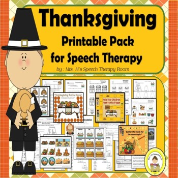 Thanksgiving  Speech Therapy Printable Pack