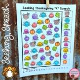 Thanksgiving Speech Therapy Seeking Activity | Google Slides
