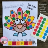 Thanksgiving Speech Therapy Sticker Dice Game craft (articulation language)