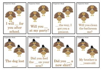 Gobble, Gobble Thanksgiving Speech and Language