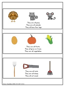 Thanksgiving Speech Therapy Following Multi-Step Directions Attributes