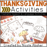 Thanksgiving Speech and Language Activities for Speech Therapy