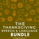 Thanksgiving Speech and Language BUNDLE
