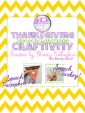 Thanksgiving {Speech and Language} Craftivity