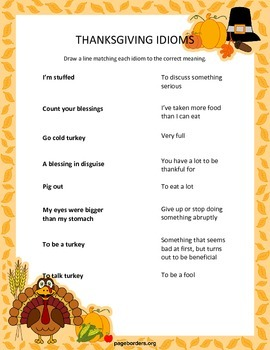 Thanksgiving Speech/Language Worksheets