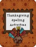 Thanksgiving Spelling Activities