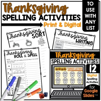 Thanksgiving Spelling Activities for ANY List