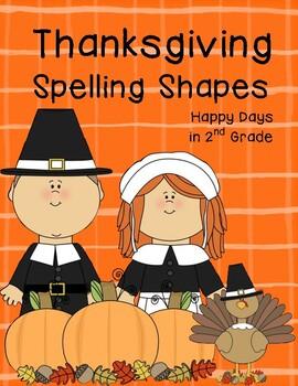 Thanksgiving Spelling Shapes