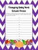 Thanksgiving Spelling Unit and Activities