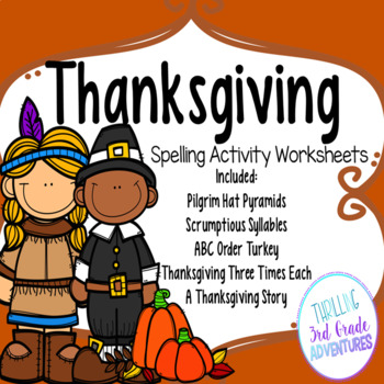 Thanksgiving Spelling Worksheets