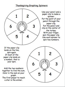 Thanksgiving Spin-A-Sum Game