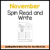 Thanksgiving Spin Read Write Template Freebie