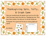 Thanksgiving Spin, Tally, and Graph Game!