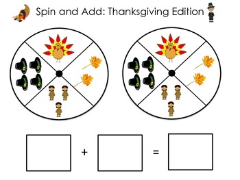 Thanksgiving Spin and Add Game