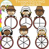 Pilgrim Spinners for Thanksgiving Clip Art