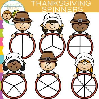 Thanksgiving Spinners Clip Art
