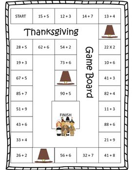 Thanksgiving Path Addition Game