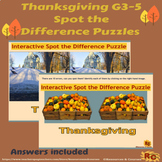 Thanksgiving Puzzles Spot the Difference G3-5