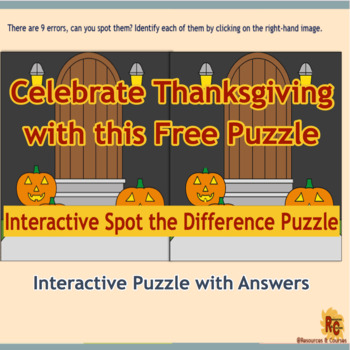 Image of R&C Freebies Thanksgiving Spot the Difference Puzzle Sample