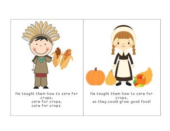 Thanksgiving Squanto Emergent Reader!