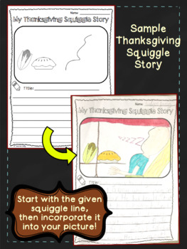 Thanksgiving Squiggle Stories: A Creative Writing Activity