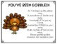 Thanksgiving Staff Morale Booster - You've Been Gobbled