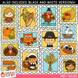 Thanksgiving Stamps Clip Art