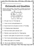 Thanksgiving: Statements and Question
