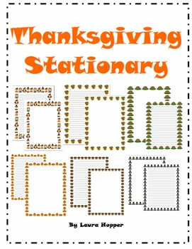 Thanksgiving Stationary- 6 Different Designs