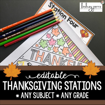 Thanksgiving Stations - Editable Template