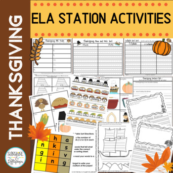 Thanksgiving Stations:  Learning Fun with Common Core
