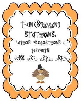 Thanksgiving Stations: Rates & Ratios