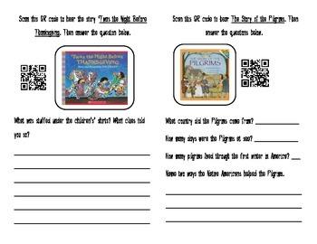 Thanksgiving Stories QR Code Book