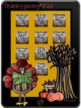Thanksgiving Stories iPad QR Codes & Hyperlinks~Listening