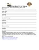 Thanksgiving Story Graphic Organizer