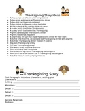 Thanksgiving Story Ideas and Graphic Organizer