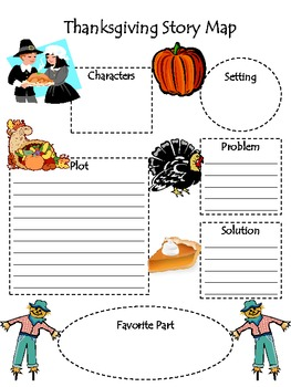 Thanksgiving Story Map for Any Story