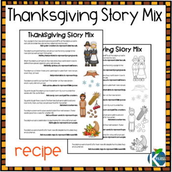Thanksgiving Story Mix Recipe with Leftovers Label