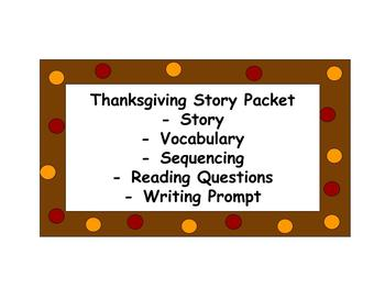 Thanksgiving Story Packet