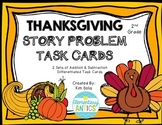 Thanksgiving Word Problem Task Cards (Addition, Subtraction, Multi-step)