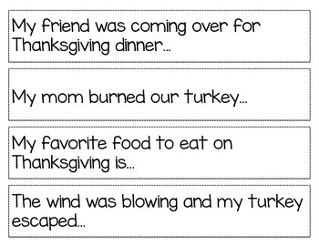 Thanksgiving Story Starters