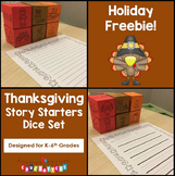 Thanksgiving Story Starters Writing Support Dice Set - Seasonal Crafts