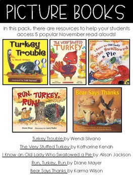 STORY TIME PACK: THANKSGIVING