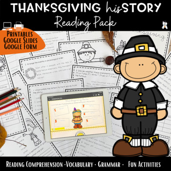 Thanksgiving Reading Comprehension Activity Pack 2017 - Vocabulary Exercises