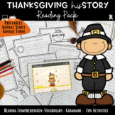 Thanksgiving Reading Comprehension Activity Pack 2018 - Vo
