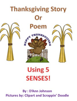 Thanksgiving Story or Poem Unit using your 5 Sences