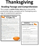 Thanksgiving Story with Questions Thanksgiving Story with